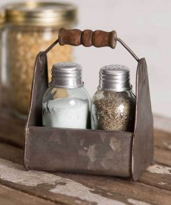 mayfair rustic tiny toolbox salt and pepper caddy set of