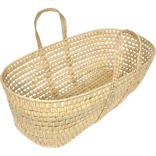 melinda beige woven palm leaf basket