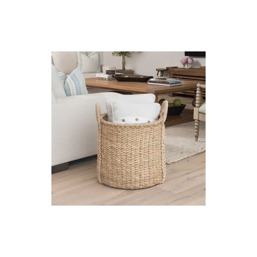 melinda natural brown storage wicker basket with 2 sturdy handles