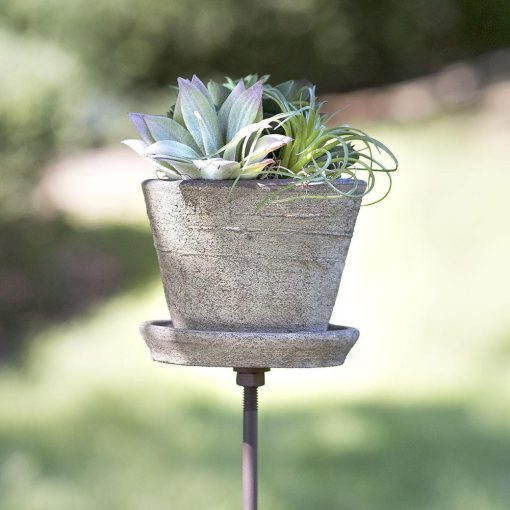 michelle wholesale set of charming garden pots with iron stakes
