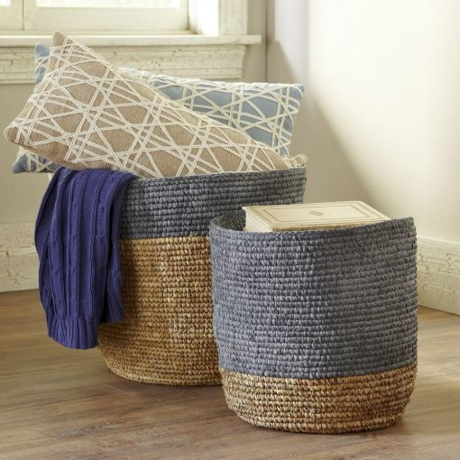 mirage oval 2 piece seagrass baskets set