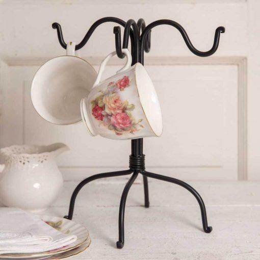 miro black four hook mug rack set of 2