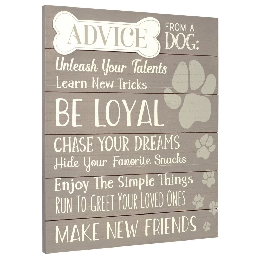 misty horizontal orientation advice from a dog wall décor