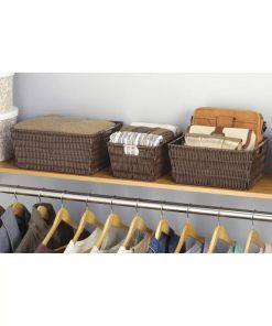 naya 3 piece brown baskets in java set