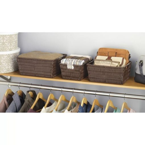 naya 3 piece brown baskets in java set