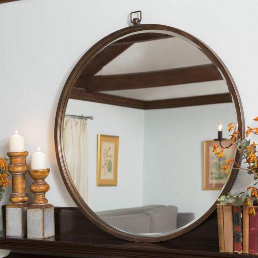 nita antique bronze accent mirror