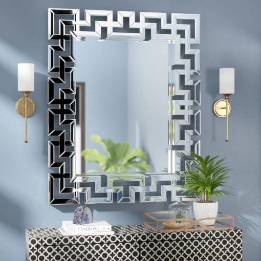 nita mordern rectangle geometric wall mirror