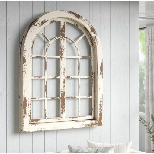 noreen distressing arch wood wall décor