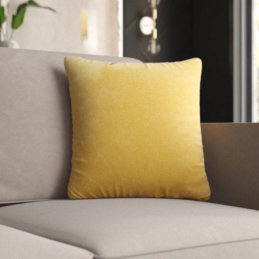 Odessa throw pillow with zipper opening