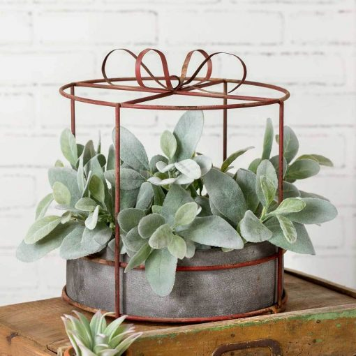 orleans cylinder hat box planter with pot