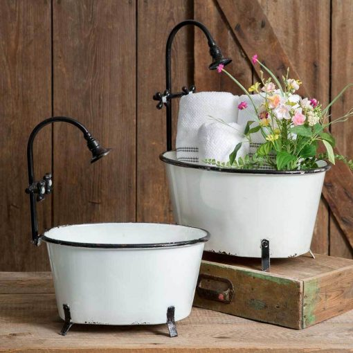 padma cute clawfoot tub planters set of