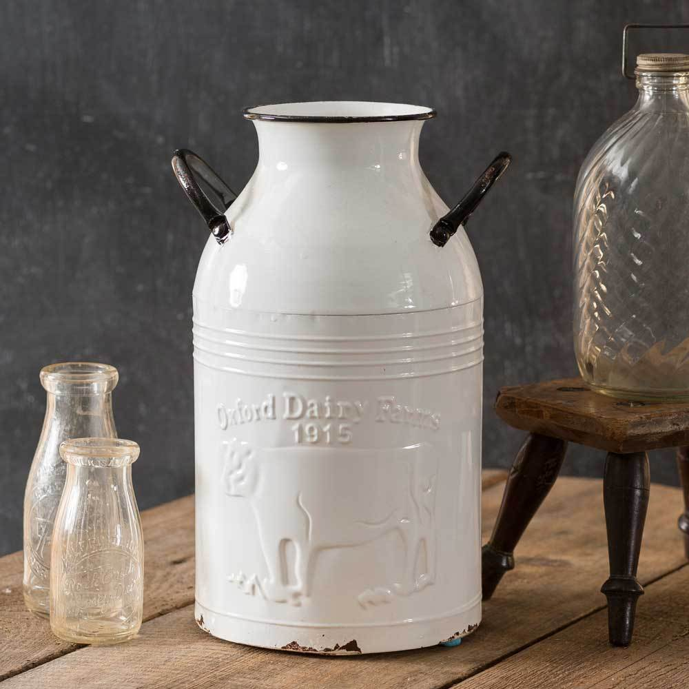 paige oxford dairy farms milk can with two handles