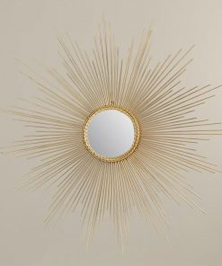 paulina gold sunburst metal wall mirror