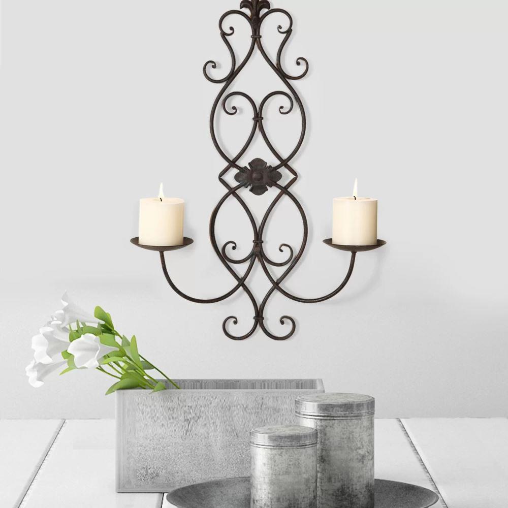 peyton vertical wall hanging metal candelabra
