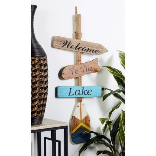 pilcro cheerful welcome to the lake wall décor