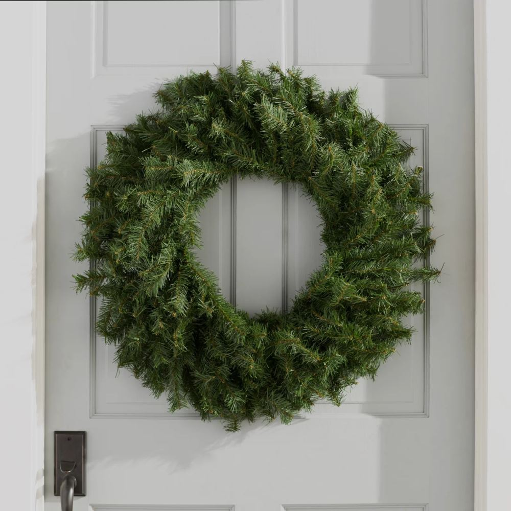 pilcro green pine wreath