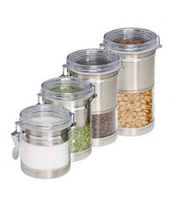 pocket plastic kitchen canister set of