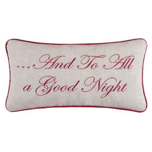 quinn and to all a good night lumbar pillow