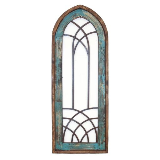 radiant distressed architectural window wall décor