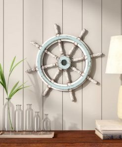 rayna distressing decorative wood ship wheel