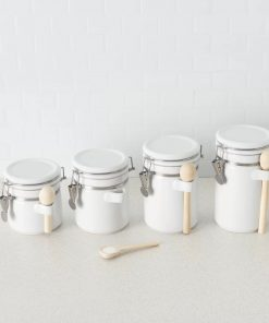 rebekah ceramic kitchen canister set of