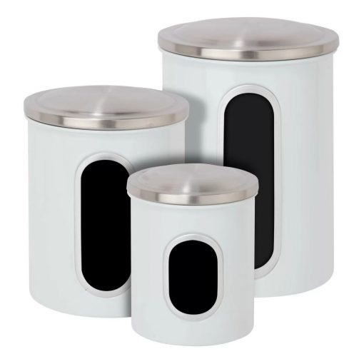 reina kitchen canister with metal lid set of