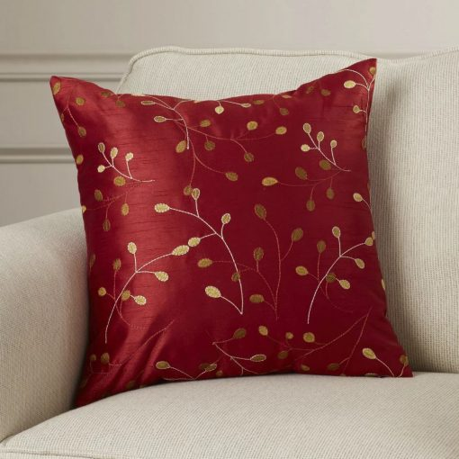 remy 100 polyester embroidered throw pillow