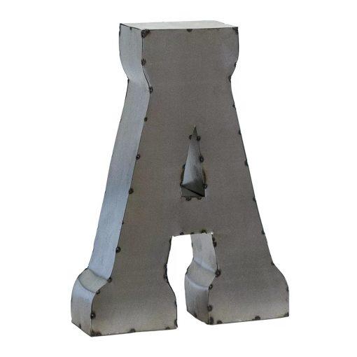 renata handcrafted metal letter block
