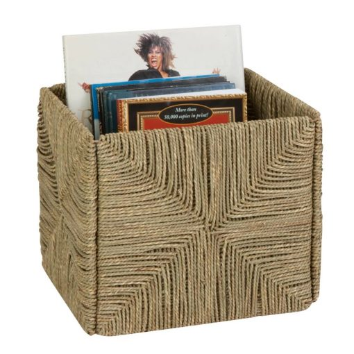 roller natural storage seagrass basket