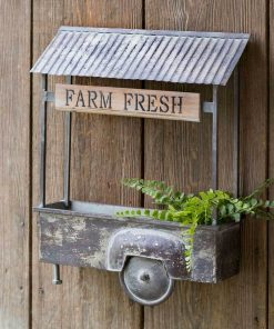 rumer vintage farm fresh truck bed wall planter