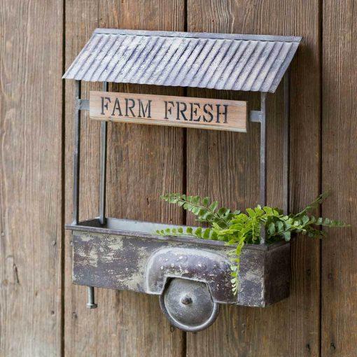 rumer vintage farm fresh truck bed wall planter