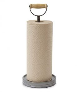 rustic galvanized paper towel holder with handle