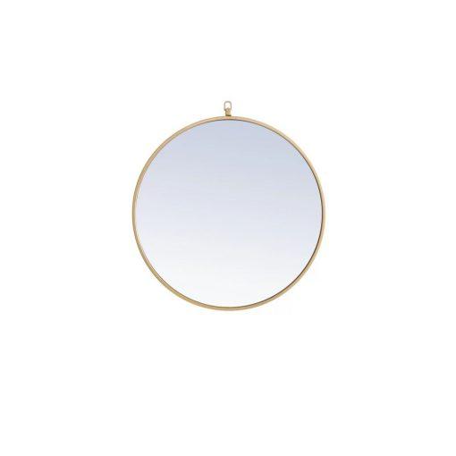 rylee modern round accent mirror