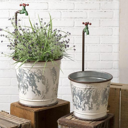 ryo garden faucet flower buckets set of two
