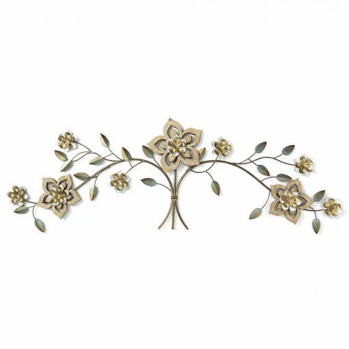 sally rustic wood flower over the door wall décor