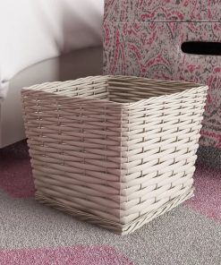samia tapered silhouette storage wicker basket