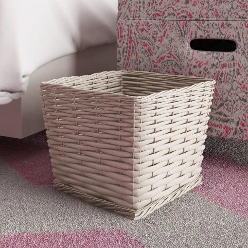 samia tapered silhouette storage wicker basket
