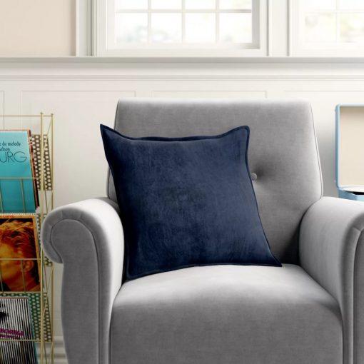 sanctuary smooth 100 cotton velvet throw pillow