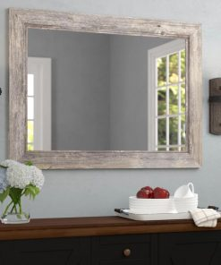santos driftwood beveled accent mirror