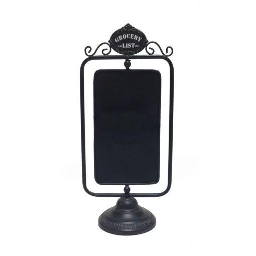 sasha black free standing tabletop chalkboard