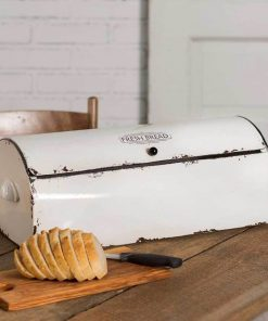 scotch white vintage bread box