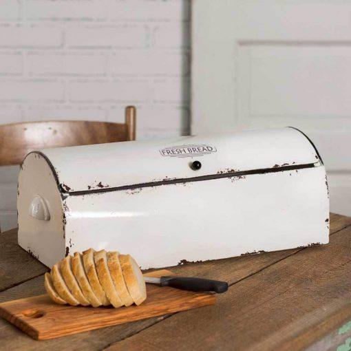 scotch white vintage bread box