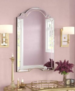 shanna crowned top wall mirror