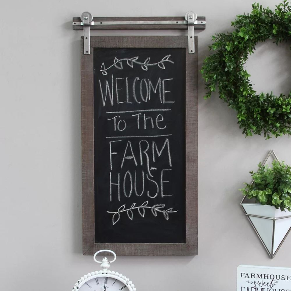 shelby brown farmhouse wall mounted chalkboard