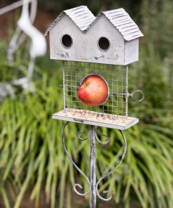 shoshanna iron bird bungalow garden stake