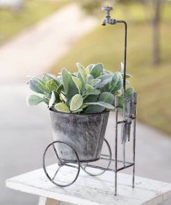 shoshanna rustic showered garden cart planter