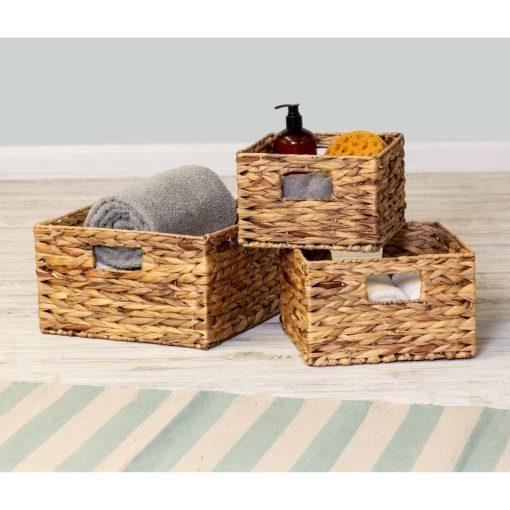 siena 3 piece nesting rattan basket set