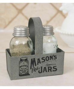 small and light mason jar box salt and pepper caddy set of