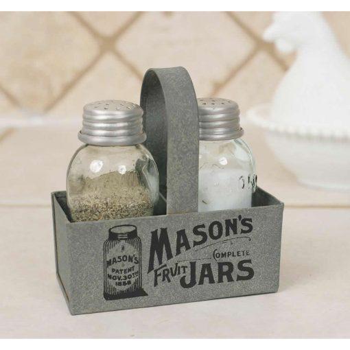 small and light mason jar box salt and pepper caddy set of