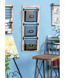 sonrisa industrial 3 tier basket wall rack with label slot